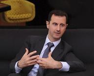 <p>الرئيس السوري بشار الاسد في مقابلة بالعاصمة دمشق يوم 3 يوليو تموز 2012. (تستخدم الصورة في اغراض تحريرية فقط يحظر بيعها وتسويقها واستغلالها في حملات اعلانية) - رويترز</p>