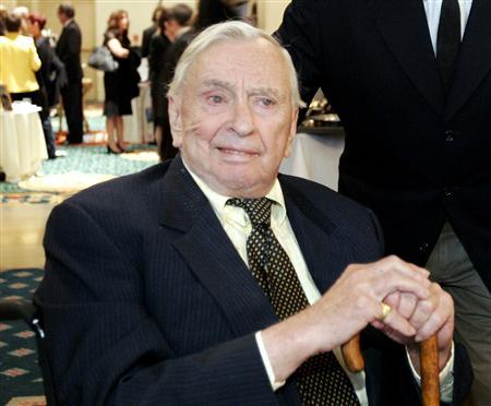 Writer Gore Vidal is pictured at the ''2005 Literary Awards'' hosted by PEN USA in Los Angeles in this November 9, 2005 file photo. Writer Vidal, who filled his intellectual works with acerbic observations on politics, sex and American culture while carrying on feuds with his big-name literary rivals, died on July 31, 2012, at the age of 86, Los Angeles Times reported. REUTERS/Mario Anzuoni/Files