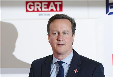 British Prime Minister David Cameron attends the UK Creative Industries Forum at the Royal Academy in London July 30, 2012. REUTERS/Neil Hall