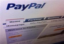 <p>Imagen de archivo del sitio web de PayPal visto desde la pantalla de un ordenador en Singapur, jul 21 2011. El proveedor de pagos por Internet PayPal tendrá acceso a millones de tiendas físicas en Estados Unidos bajo un acuerdo con Discover Financial Services. REUTERS/Tan Shung Sin</p>