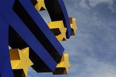 <p>La Banque centrale européenne est prête à renoncer à son statut de créancier privilégié dans le cadre du nouveau programme de rachats d'obligations qu'elle doit annoncer jeudi au terme de sa réunion mensuelle, selon des sources proches de l'institution. /Photo d'archives/REUTERS/Alex Domanski</p>