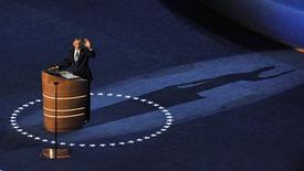 <p>Le discours de Barack Obama en clôture de la convention du Parti démocrate aux Etats-Unis a entraîné une avalanche de messages sur Twitter, qui n'avait jamais connu une telle effervescence pour un événement politique. L'intervention du président américain jeudi a généré 52.756 tweets par minute une fois terminée. /Photo prise le 6 septembre 2012/REUTERS/Steve Nesius</p>