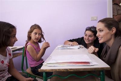 Angelina Jolie, refugee advocate