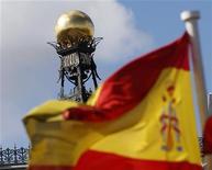 <p>La Banque d'Espagne. Les ministres des Finances de l'Eurogroupe lanceront officiellement lundi à Luxembourg le Mécanisme européen de stabilité (MES), un fonds de renflouement de 500 milliards d'euros destiné aux pays de la zone euro en difficulté. La première tâche du MES sera de prêter à l'Espagne pour qu'elle recapitalise son secteur bancaire. /Photo prise le 24 septembre 2012/REUTERS/Sergio Perez</p>