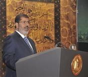 <p>محمد مرسي في القاهرة يوم 12 اغسطس اب 2012. صورة لرويترز</p>