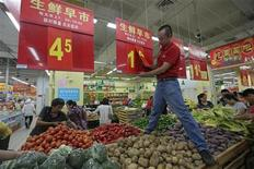 <p>La modération des pressions inflationnistes en septembre viennent une nouvelle fois illustrer que les mesures en faveur de la croissance commencent à porter leurs fruits, tout en offrant de nouvelles marges de manoeuvre en matière de stimulation de l'activité. /Photo prise le 9 septembre 2012/REUTERS</p>