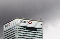<p>HSBC a fait état d'un bénéfice avant imposition de 3,5 milliards de dollars au titre du troisième trimestre. /Photo d'archives/REUTERS/Olivia Harris</p>