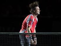 <p>En l'absence de Rafael Nadal, en phase de reprise après une blessure au genou, David Ferrer, vainqueur du Masters 1000 de Paris-Bercy dimanche, sera le chef de file de l'Espagne dans sa quête d'une quatrième Coupe Davis en cinq ans, dans dix jours à Prague contre la République tchèque. /Photo prise le 4 novembre 2012/REUTERS/Ian Langsdon/Pool</p>
