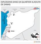 <p>EXPLOSIONS DANS UN QUARTIER ALAOUITE DE DAMAS</p>