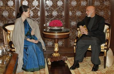 Hamid Karzai in India