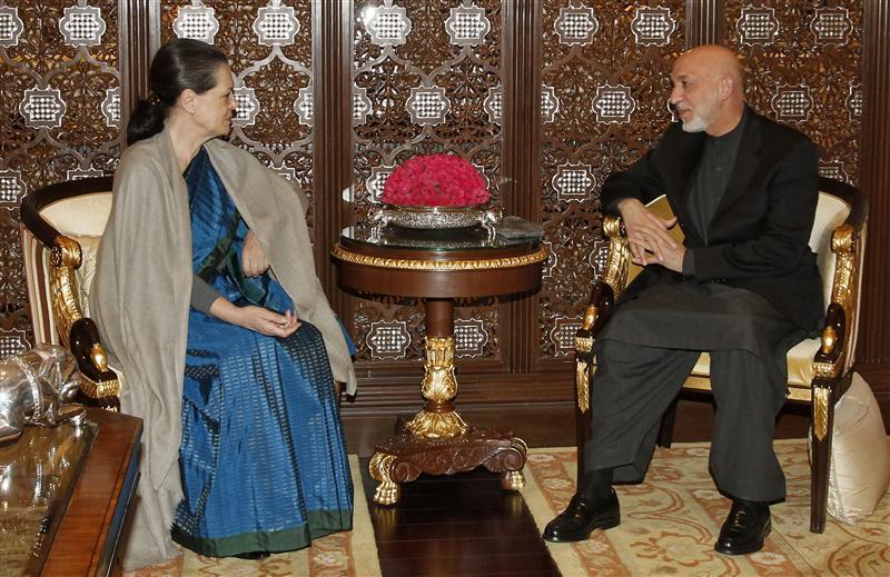 Hamid Karzai in India