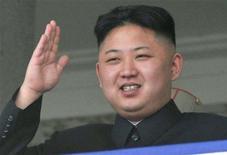 """<p>Le Quotidien du Peuple, organe du Parti communiste au pouvoir en Chine, a salué mardi avec enthousiasme le titre d'""""homme le plus sexy de 2012"""" décerné au leader nord-coréen Kim Jong-un par un site internet américain, sans saisir manifestement l'aspect ironique de la distinction. /Photo prise le 15 avril 2012/REUTERS/Kyodo</p>"""