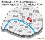 <p>UN HOMME TUÉ PAR DES MALFAITEURS DANS UN ATELIER DE MÉTAUX PRÉCIEUX À PARIS</p>