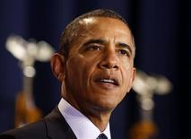 <p>Pour la deuxième année de suite, le président américain Barack Obama arrive en tête de la liste annuelle des personnalités les plus puissantes du monde du magazine Forbes. /Photo prise le 3 décembre 2012/REUTERS/Larry Downing</p>