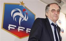 <p>Noël Le Graët a été réélu samedi pour quatre ans à la présidence de la Fédération française de football (FFF) avec 83,07% des voix dès le premier tour de scrutin. /Photo prise le 3 juillet 2012/REUTERS/Mal Langsdon</p>