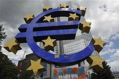 <p>La Bundesbank, la banque centrale allemande, émet d'importantes réserves sur les bases juridiques de la création de l'union bancaire européenne, selon l'hebdomadaire Der Spiegel, qui cite des juristes de l'institution. /Photo prise le 2 août 2012/REUTERS/Alex Domanski</p>