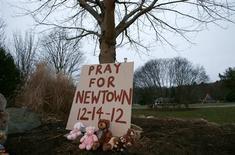 <p>Après la tuerie de Newtown, plusieurs parlementaires démocrates se sont engagés dimanche à prendre rapidement l'initiative au Congrès en vue de faire modifier la législation américaine sur les armes, en interdisant notamment la vente libre des fusils d'assaut. /Photo prise le 16 décembre 2012/ REUTERS/Mike Segar</p>