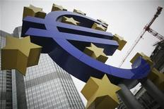 <p>La zone euro a enregistré en octobre un excédent commercial de 10,2 milliards d'euros contre un déficit de 0,7 milliard un an plus tôt, selon Eurostat. /Photo d'archives/REUTERS/Alex Domanski</p>