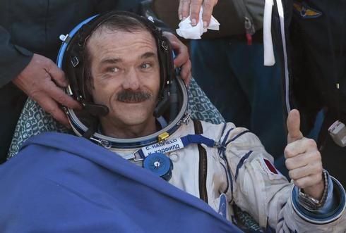 Chris Hadfield lands safely
