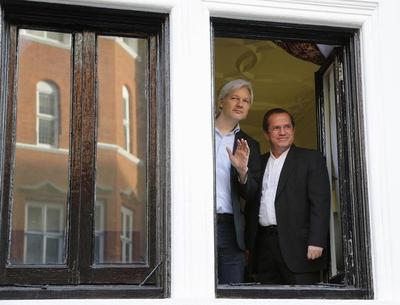 Assange's year at the embassy