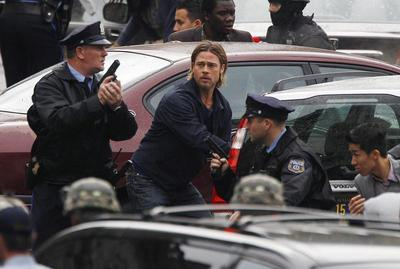 On the set of World War Z
