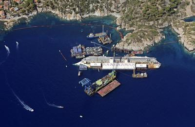 Costa Concordia from above