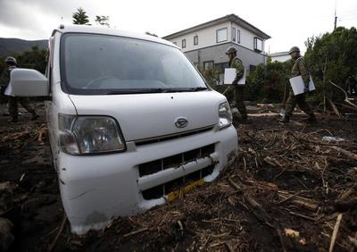Typhoon hits Japan