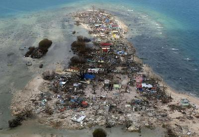 Typhoon aftermath from above