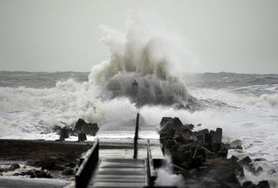 Arctic storm hits Europe
