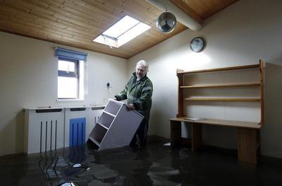 Flooding in southwest England