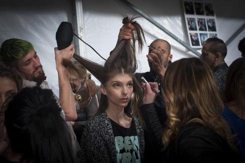 Backstage at NYFW