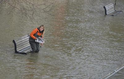 River Thames bursts its banks