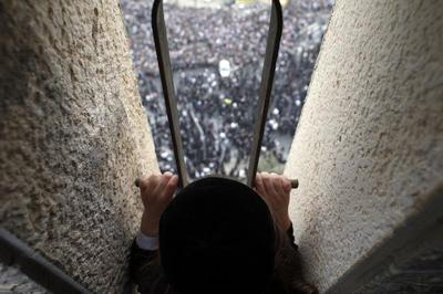 Mass prayer in Jerusalem