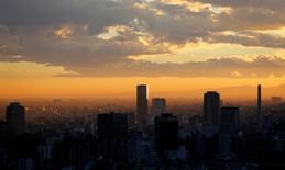 Vue de Tokyo. Les prix fonciers des plus grandes villes du Japon ont augmenté l'an dernier pour la première fois en six ans, tout en continuant de baisser dans le reste du pays. Les prix commerciaux ont progressé en moyenne de 1,6% à Tokyo, Osaka et Nagoya. /Photo prise le 10 décembre 2013/REUTERS/Toru Hanai