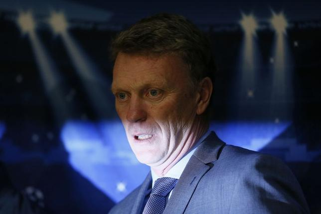 Manchester United's manager David Moyes attends a news conference at Old Trafford in Manchester, northern England March 31, 2014. United are set to play German side Bayern Munich in the Champions League on Tuesday. REUTERS/Stefan Wermuth (BRITAIN - Tags: SPORT SOCCER) - RTR3JBZY