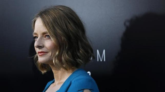 Cast member Jodie Foster poses at the world premiere of ''Elysium'' in Los Angeles, California August 7, 2013. REUTERS/Mario Anzuoni/Files