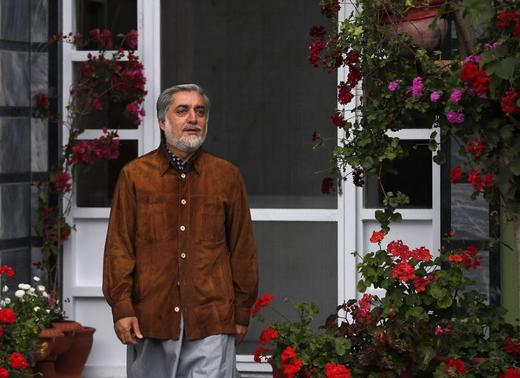 Afghan presidential candidate Abdullah Abdullah arrives for an interview in Kabul April 24, 2014. REUTERS/Mohammad Ismail