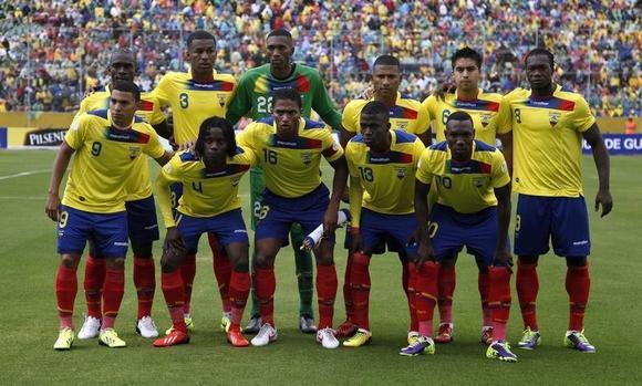 Ecuador's squad in 2013