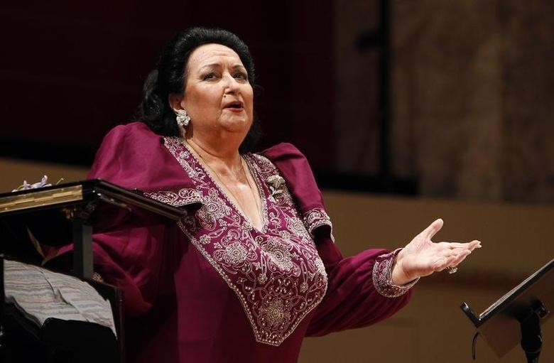 Spanish opera singer Montserrat Caballe performs during a concert at Konzerthaus in Vienna June 22, 2011. REUTERS/Lisi Niesner