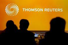 Thomson Reuters a fait état mercredi d'une hausse de 14% de son bénéfice d'exploitation au premier trimestre, supérieure aux attentes à la faveur de la croissance de ses segments Legal et Tax & Accounting. /Photo d'archives/REUTERS/Claudio Reyes