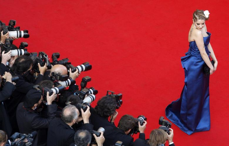 Model and socialite Peaches Geldof arrives for the screening of the film ''The Imaginarium of Doctor Parnassus'' out of competition at the 62nd Cannes Film Festival May 22, 2009. REUTERS/Christian Hartmann