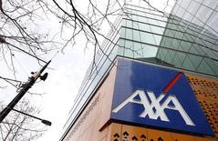 L'assureur français Axa, numéro deux de l'assurance en Europe, après l'allemand Allianz, fait état d'un chiffre d'affaires en repli de 1% au premier trimestre pénalisé par l'appréciation de l'euro face aux devises asiatiques et au dollar. /Photo d'archives//REUTERS/Mick Tsikas
