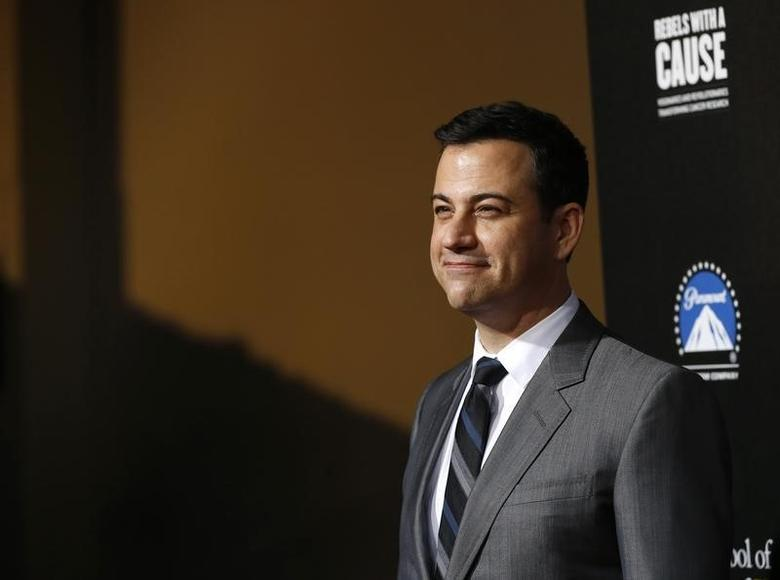 Television host Jimmy Kimmel poses at the second annual ''Rebels With a Cause'' gala at Paramount Pictures Studios in Los Angeles, California March 20, 2014.   REUTERS/Mario Anzuoni