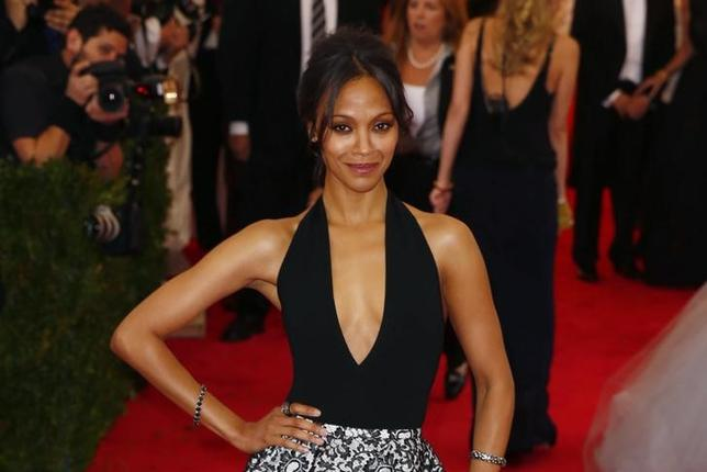 Actress Zoe Saldana arrives at the Metropolitan Museum of Art Costume Institute Gala Benefit celebrating the opening of ''Charles James: Beyond Fashion'' in Upper Manhattan, New York, May 5, 2014. REUTERS/Lucas Jackson