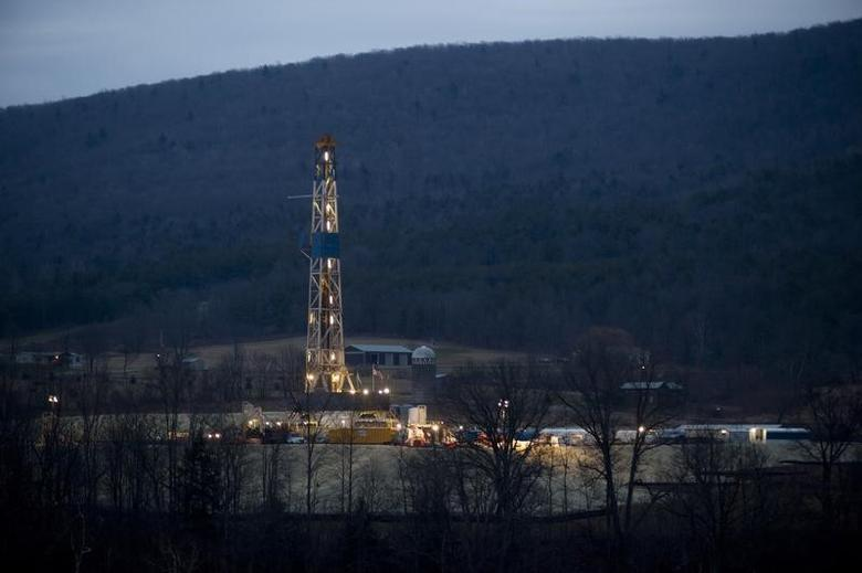 A natural gas well is drilled near Canton, in Bradford County, Pennsylvania January 8, 2012.  REUTERS/Les Stone