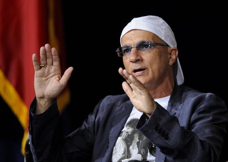 Chairman of Interscope Geffen A&M Jimmy Iovine comments on the state of the music industry during the University of Southern California's Schwarzenegger Institute for State and Global Policy Inaugural Symposium in Los Angeles, California September 24, 2012. REUTERS/Gus Ruelas /Files