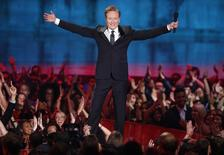Show host Conan O'Brien opens the show at the 2014 MTV Movie Awards in Los Angeles, California  April 13, 2014.  REUTERS/Lucy Nicholson