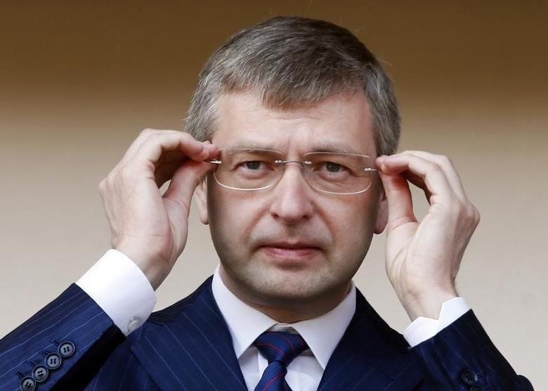 Dmitri Rybolovlev of Russia, President of AS Monaco Football Club, attends the French Ligue 2 soccer match between Monaco and Caen at Louis II stadium in Monaco May 4, 2013.   REUTERS/Eric Gaillard