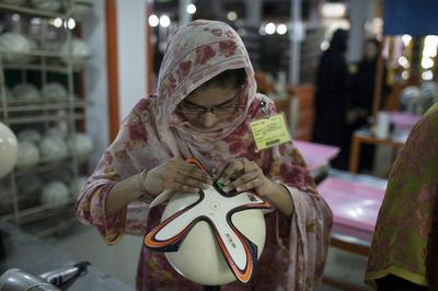 Making a World Cup ball