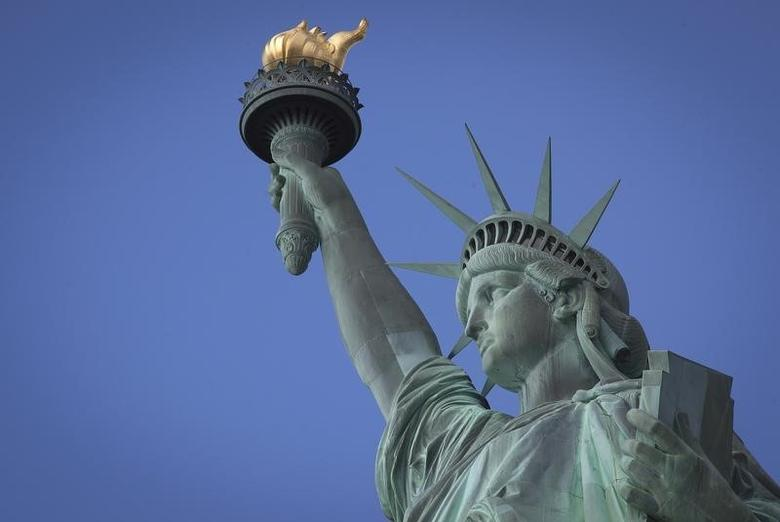 The Statue of Liberty is pictured on Liberty Island in New York, October 13, 2013. REUTERS/Carlo Allegri